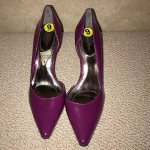 Calvin Klein pink patent leather pump size 9
